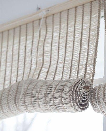 Las 25 mejores ideas sobre cortinas de yute en pinterest y - Telas rusticas para cortinas ...