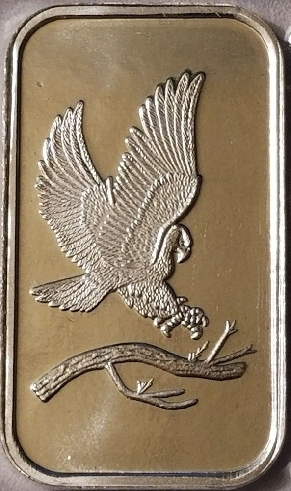 Eagle Silver 1 Oz 999 Fine Silver Bullion Bar Silver Bullion Silver Bars Eagle Design
