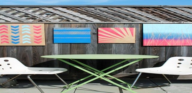 Colorful Outdoor Canvas Fence