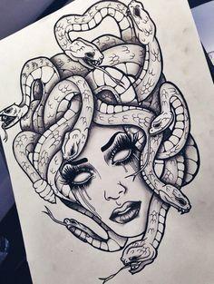 Resultado de imagen para la gorgona medusa tattoo | tattoo ...