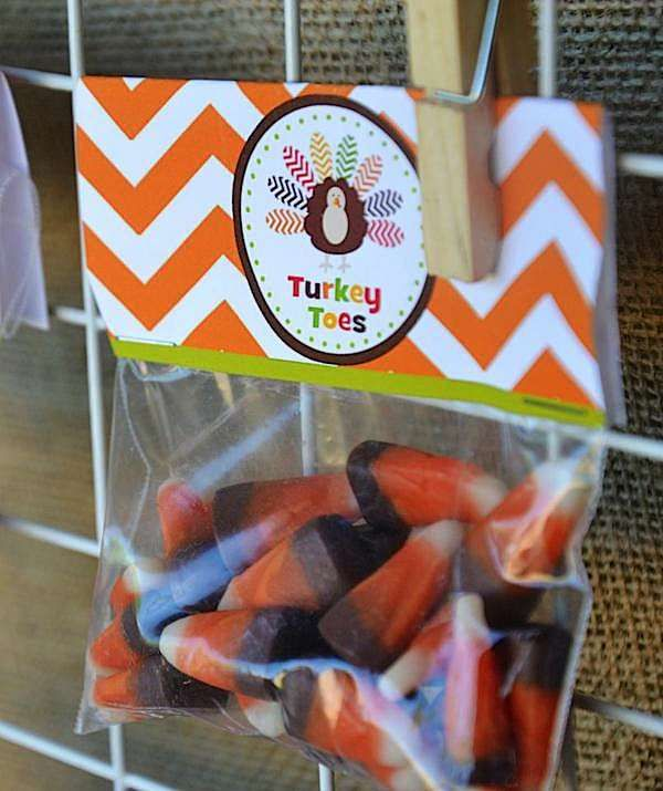 Turkey Toes Printables. Great prize for Thanksgiving games