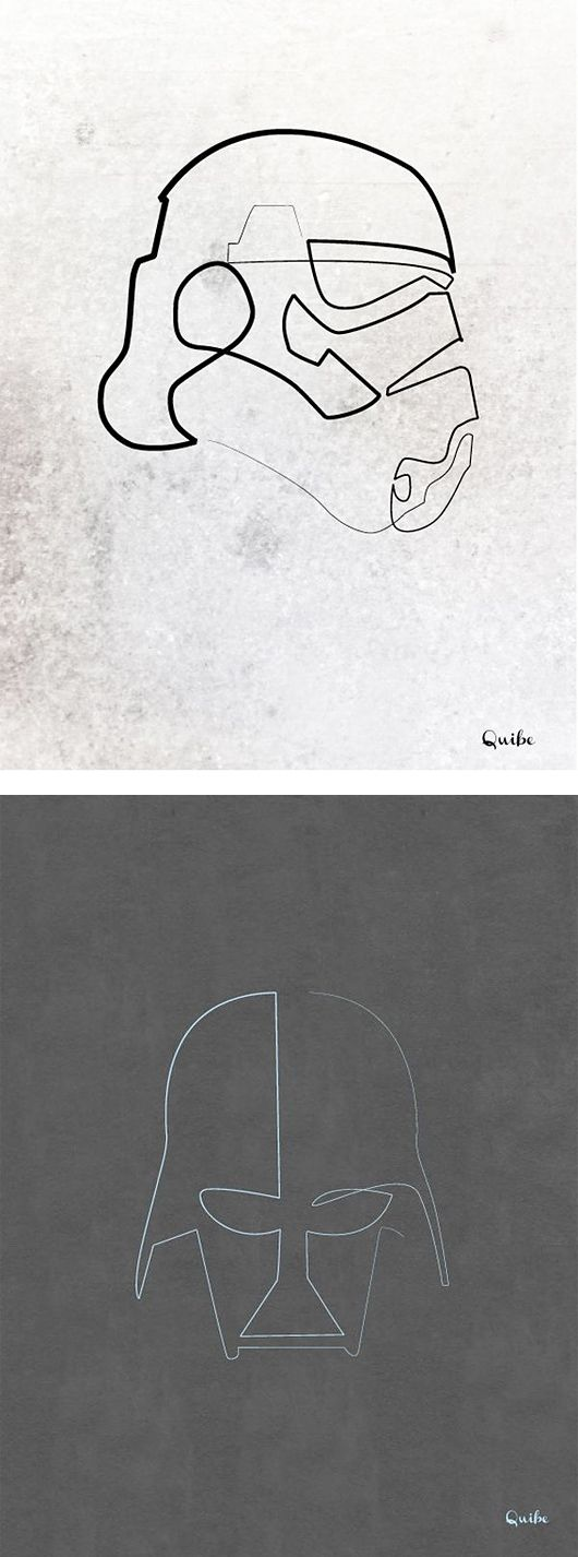 One Line Drawings by Cristophe Louis | Inspiration Grid | Design Inspiration