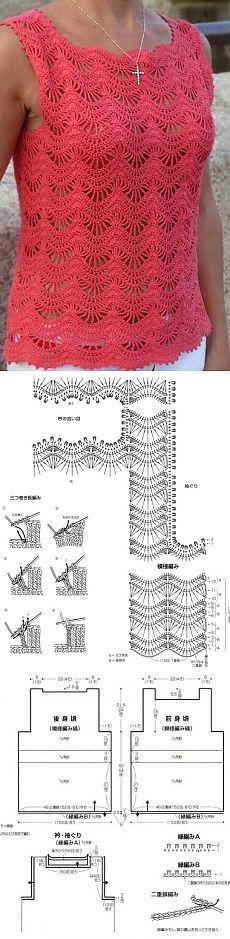 Mejores 498 imágenes de Crochet Lady en Pinterest | Tops de ...