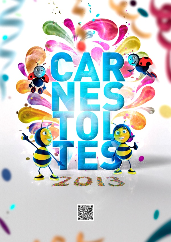 CARTEL CARNESTOLTES 2013 by Leonor Manso, via Behance