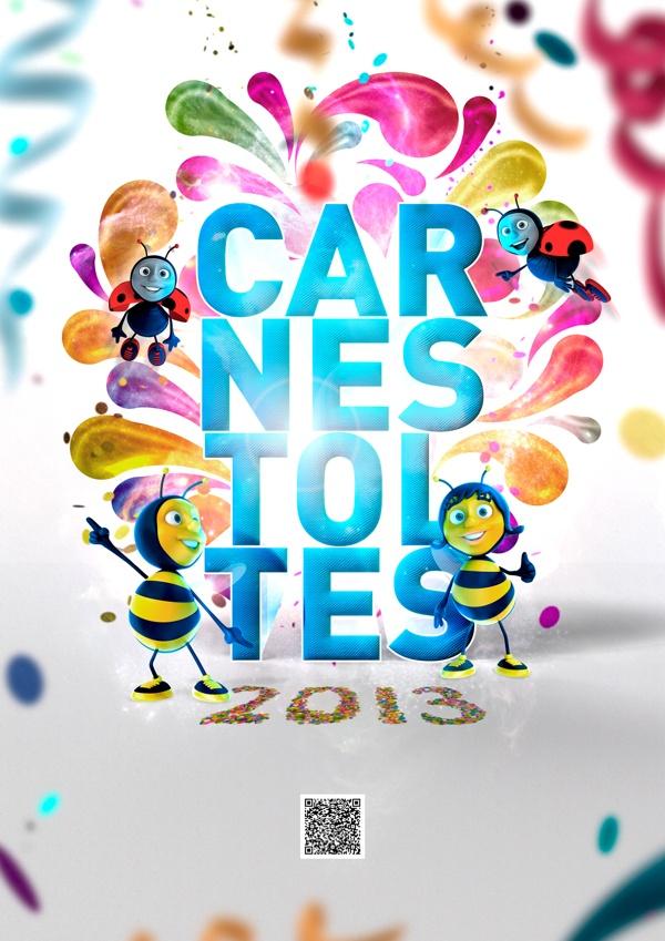 CARTEL CARNESTOLTES 2013 by Leonor Manso, via Behance