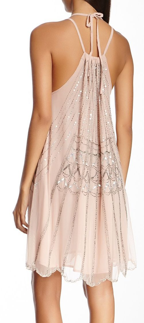 Sequined blush dress