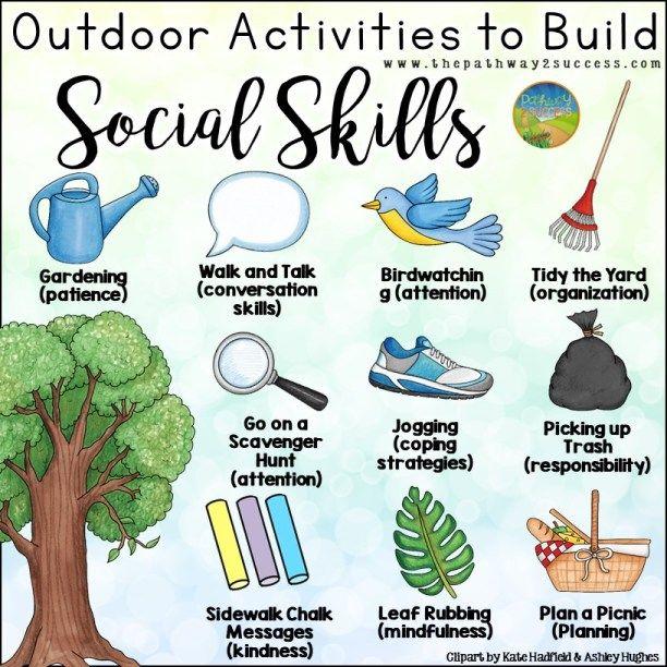 Outdoor Activities To Build Social Skills Build Social Skills Social Emotional Activities Emotional Development Activities