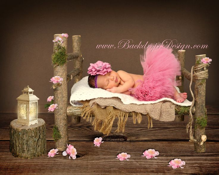 Newborn log bed photo prop baby photography prop wood bed hand made #BackdropsDesign