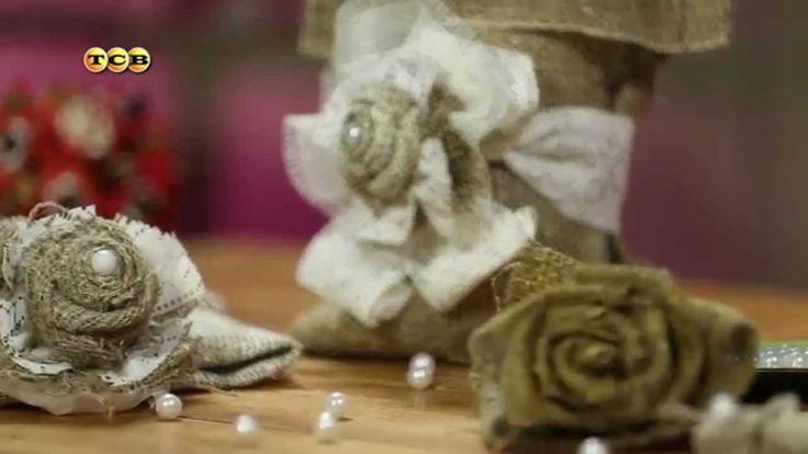 На заметку - Розы из мешковины