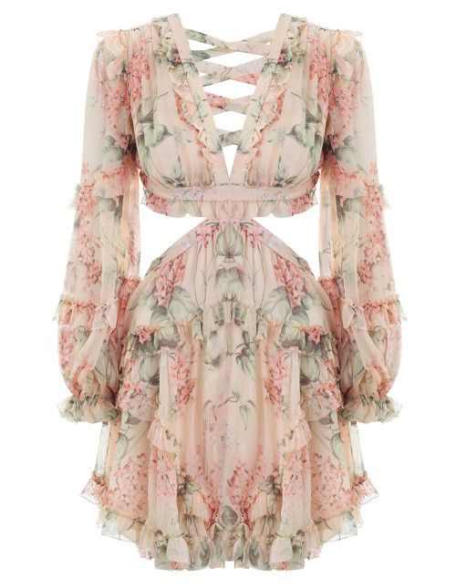 999ba6d441 Zimmermann Prima Floating Cut Out Dress. Product Image.