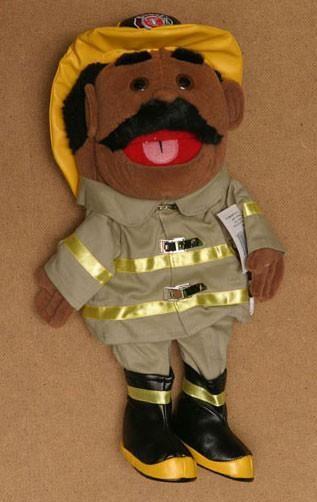 "14"" Firefighter Glove Puppet White"
