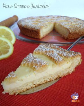 Tart with lemon cream cheese - Crostata con crema di ricotta al limone - dessert