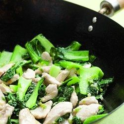 Velvet Chicken with Baby Bok Choy - EatingWell.com