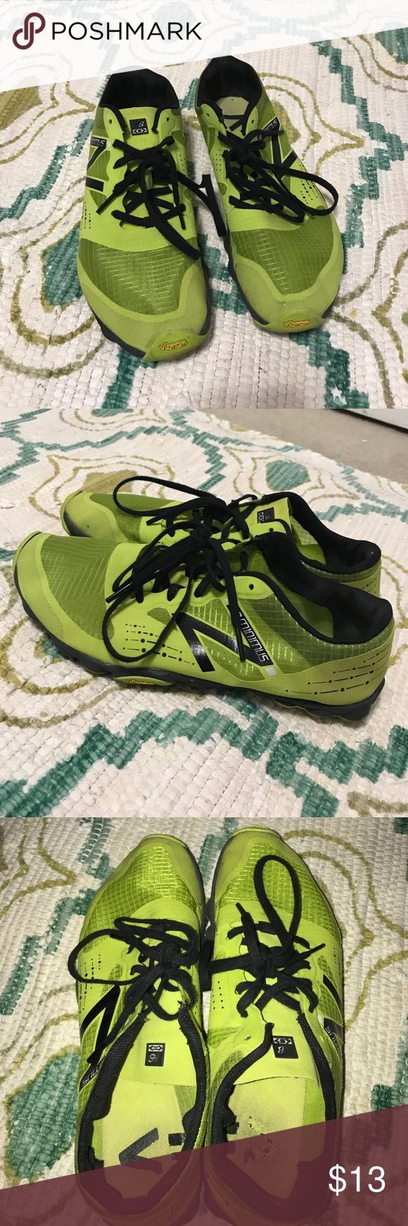 New Balance tennis shoes New Balance Minimus lime green shoes with Vibram soles. Used, but in good condition. Fast shipping!! New Balance Shoes Sneakers