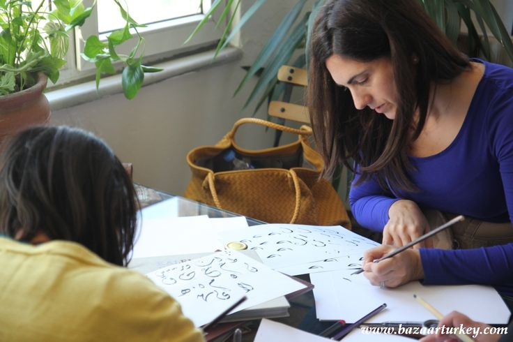 Ottoman - Arabic Eastern Calligraphy Classes continues with our guests from Lebanon in Ramadan 2016 / Istanbul.  http://bazaarturkey.com/shop/art-workshops-istanbul/calligraphy-lesson-istanbul
