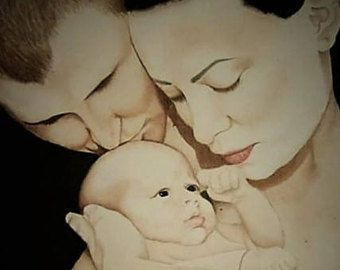 Custom watercolor portrait. Family gift/ Special occasion gift - Edit Listing - Etsy