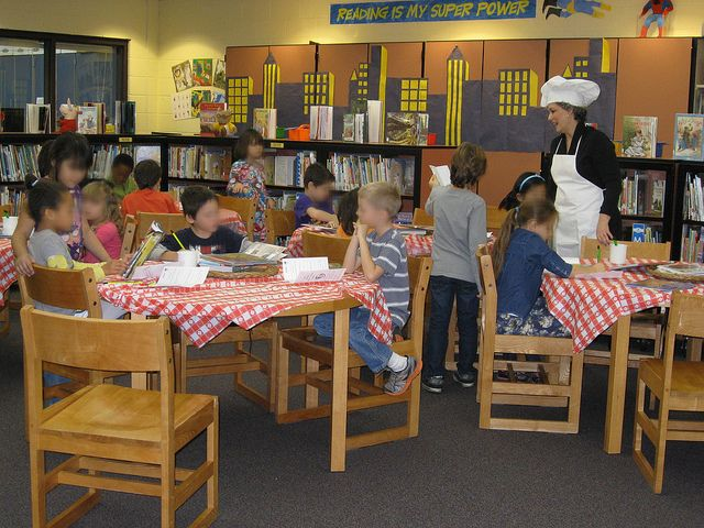 Book Tasting - along with a menu that kids fill out