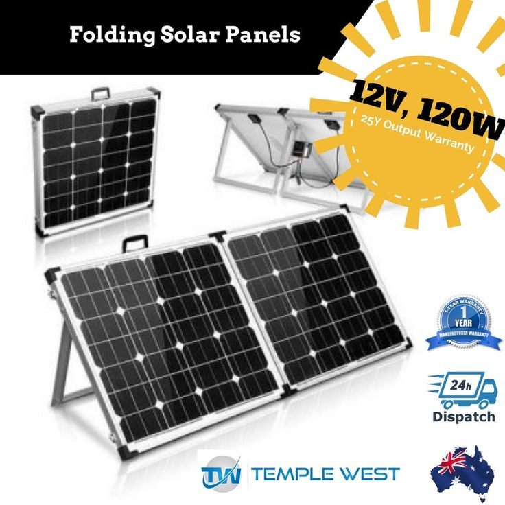 NEW  Solar Panel 120W 12V Folding Mono Boat Camping Power Charging Kit Battery
