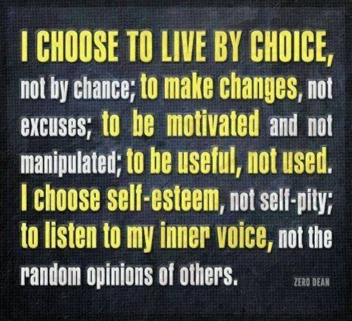 My choice.