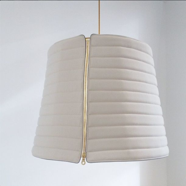 Zippered lampshade is sure to be a conversation starter 9 Parisian Pics That Caught Our Eye From Maison et Objet