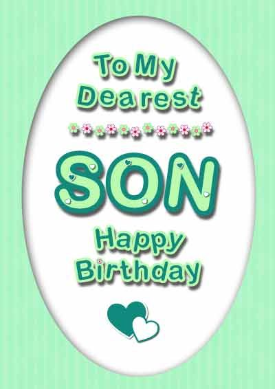 Son Birthday Cards My Free Printable Cards Printable