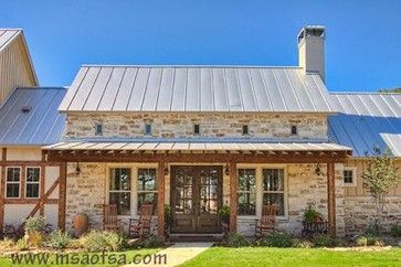 Stone and metal, French farm-house...build one to suit your country French style in the Texas Hill Country.