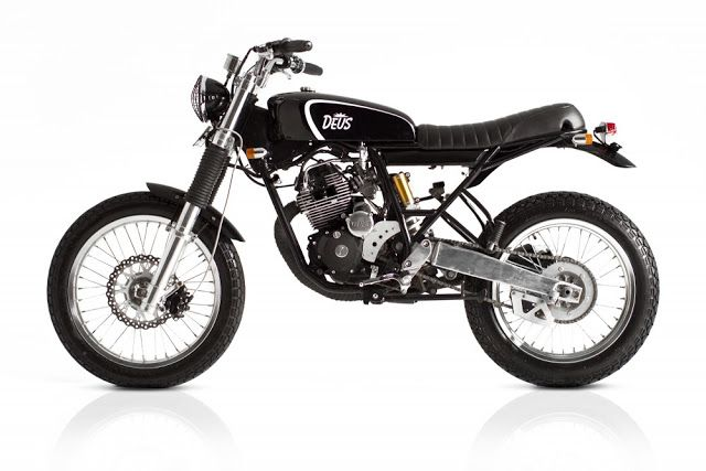 "Yamaha Scorpio 225 ""The Barefoot Executive"" by Deus - found on Racing Cafe"