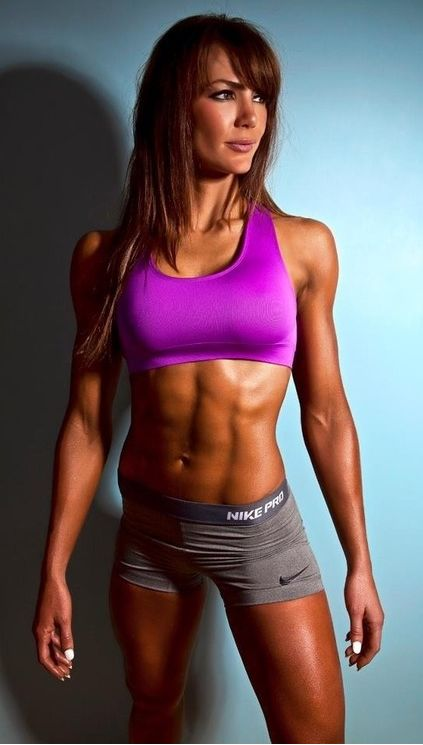 NEON PURPLE TOP AND TONED SLIM RIPPED GYM BODY of Sexy Fitness Model  : Health Exercise #Fitspiration #Fitspo FitFam Crossfit Girls on Instagram - #Motivational Workout and Weight Training Pins by: CageCult