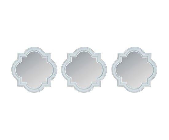 Набор из 3 зеркал - полистоун - белый