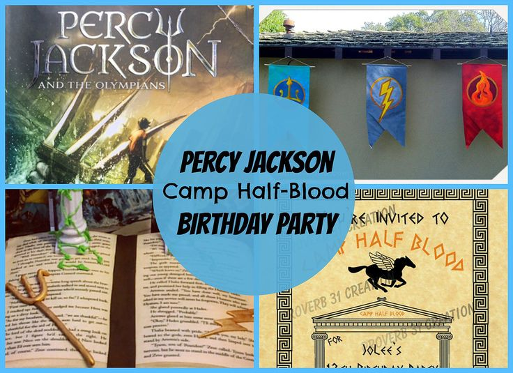 Throw a Percy Jackson, Camp Half Blood Birthday Party!