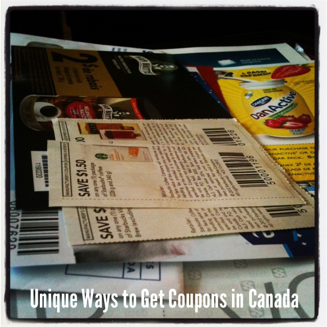 Unique ways to get coupons in Canada