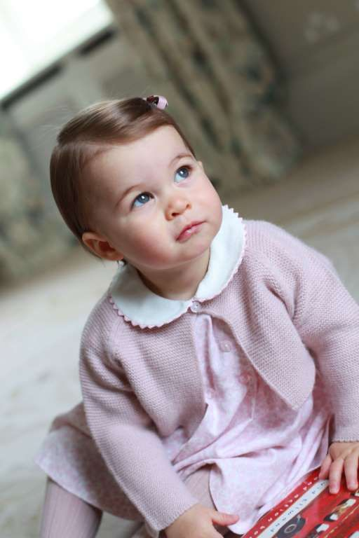 Princess Charlotte is set to celebrate her first birthday tomorrow on 2 May 2016 and to mark the occasion. Kensington Palace have released four new pictures of the youngest member of the royal family. She is pictured here in a photo taken at home by the Duchess of Cambridge