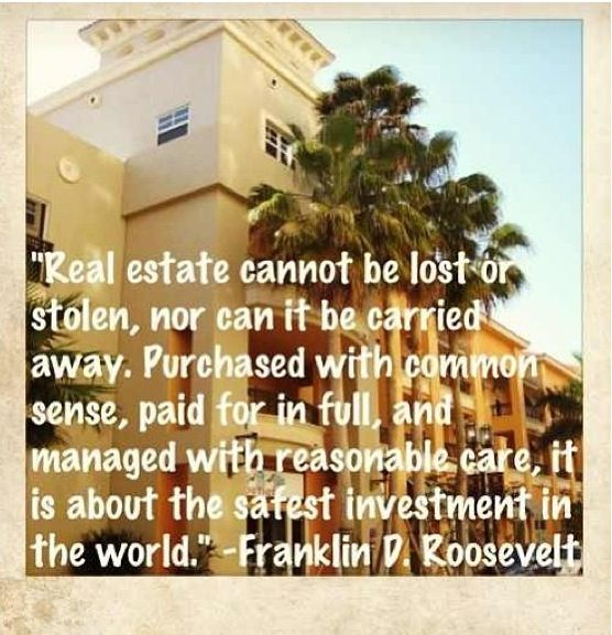 Real Estate = Investment -- take it from FDR and buy it from MACSIR.  bigislandreale.com - it's time to get smart