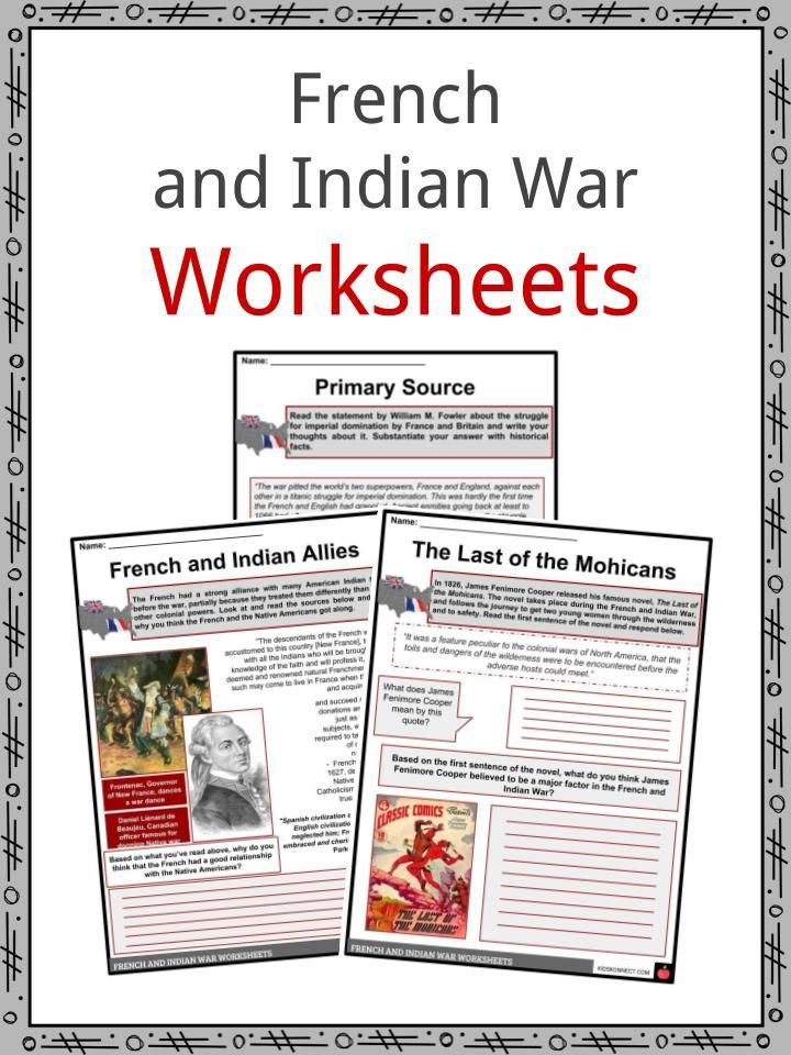 French And Indian War Facts Worksheets 1st Grade Writing Worksheets Worksheets For Kids Worksheets