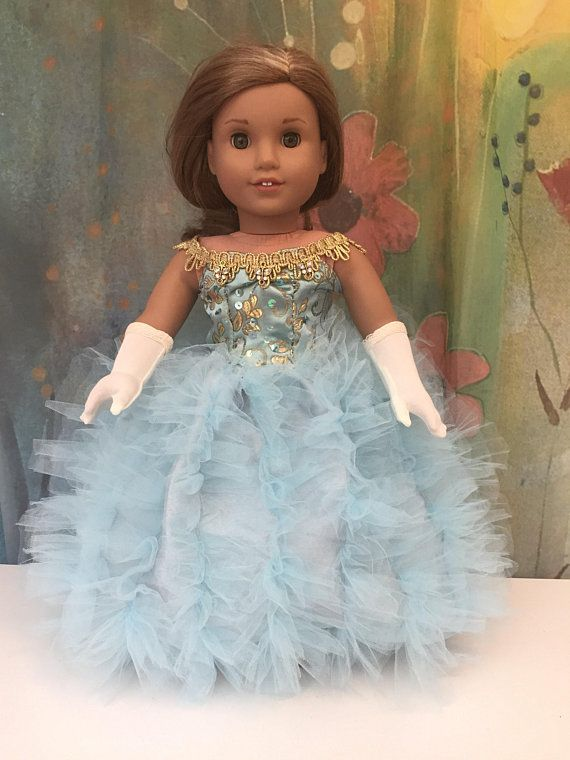 Beautifully Lace Double Layer Sleeveless Dress for 18 inch Dolls Green