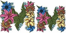 Exotic Flowers Font - Letter M