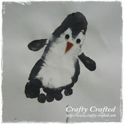 Empreinte de pied - Pingouin