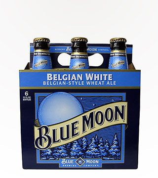 Blue Moon - $10.99 Every once in a blue moon you need a beer with some real flavor. Something other than the run-of-the-mill barley and hops combo. Blue Moon Belgium Witbier has a strong oat flavor, with hints of orange peel and coriander spice. There's a subtle sweetness followed by a smooth, creamy finish. Best served with a fresh fruit garnish.