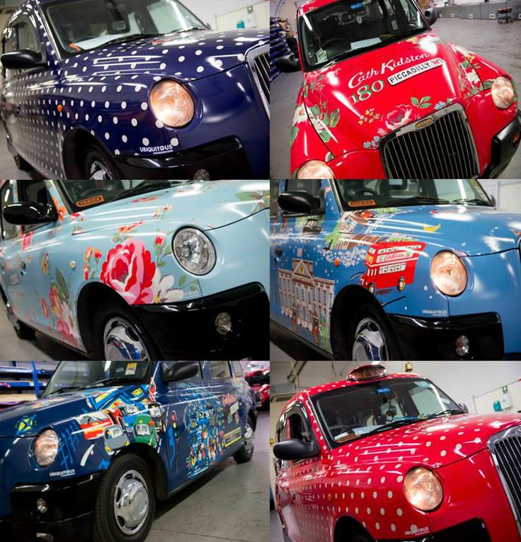 Cath Kidston taxis in London - love these!