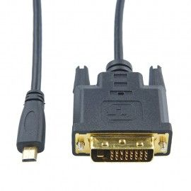 Micro HDMI to DVI DVI-D Cable Adapter/1.8M