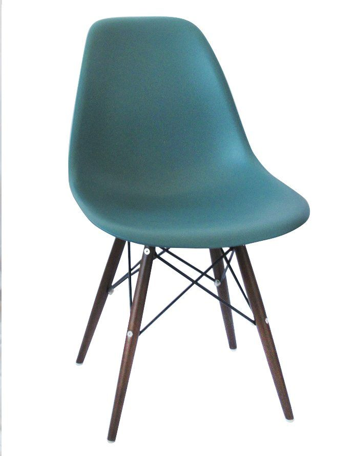 Replica Eames DSW Chair -Teal/Walnut Stain