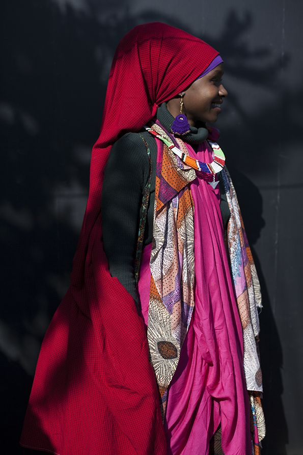 Play with volume and colour, seen at Jambo Fashion Affair in Arusha