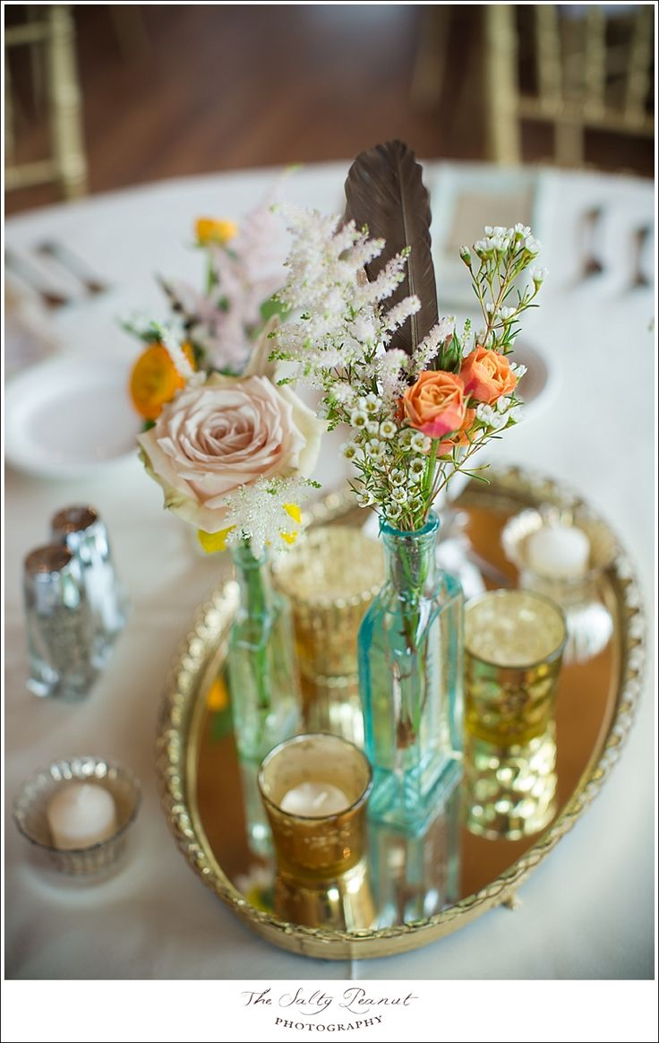 Bright vases trays dishes aroma lamps mirrors in beautiful frames - Too Bad I Can T Find Any Gold Trays I Ll Just Use Picture Frames Instead Perfect Smaller Flower Arrangements Funky Old Vases