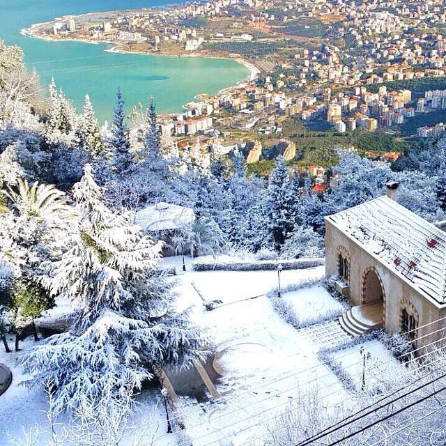 Lebanon 20.02.2015 view of Jounieh bay from Ghosta | gorgeous photo