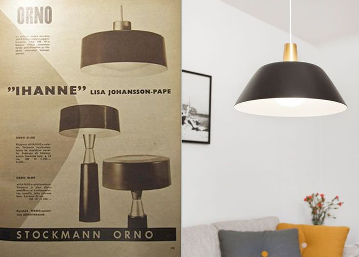 Two lights with the same name, designed by Lisa Johansson-Pape; Ihanne by Stockmann-Orno (left) and Ihanne by Innolux (right).