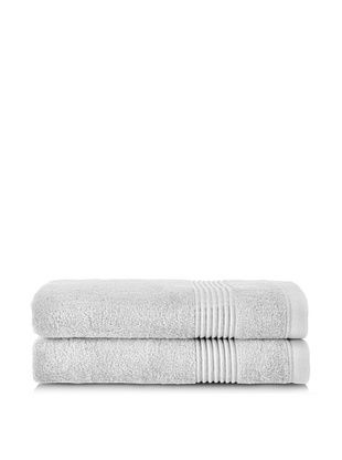 53% OFF Chortex Ultimate Set of 2 Bath Sheets, Silver