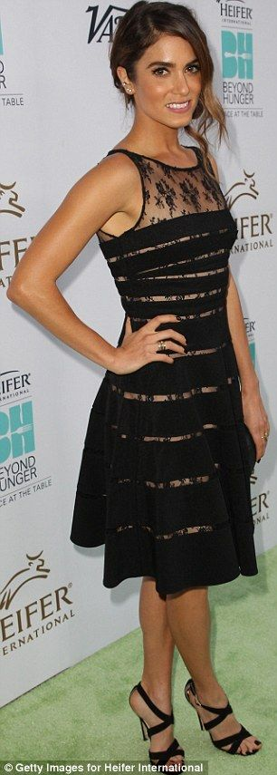 Nikki Reed and Hailee Steinfeld look lovely in lacy black dresses #dailymail