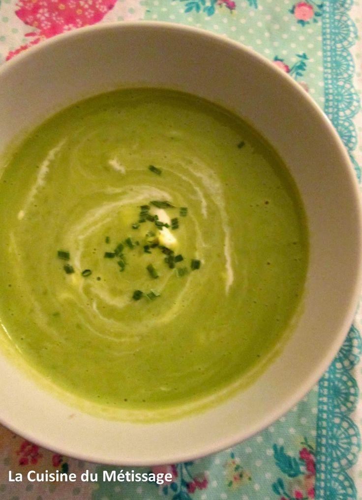 Soupe de Petits Pois au Kiri - Les Rendez-Vous de Létizia #28   Cuisine et Métissage