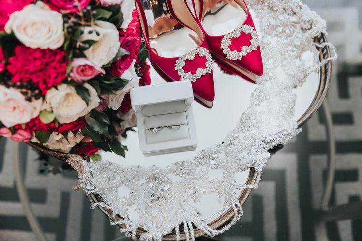 Kat's Fuchsia wedding details, Brisbane Wedding