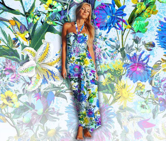 RPE079 Seamless Floral Pattern Botanical Flowers with Birds for Fashion Designers, Wallpapers, Interiors and Accessories. This listing is for an